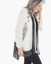 Chico's Pieced Print Vest