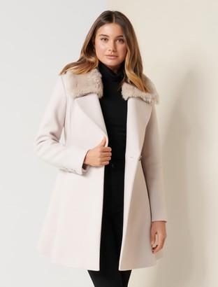 Ever New Jenna Fur Collar Coat