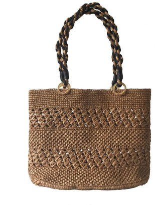 Maraina London Meva Brown Raffia Beach Tote Bag