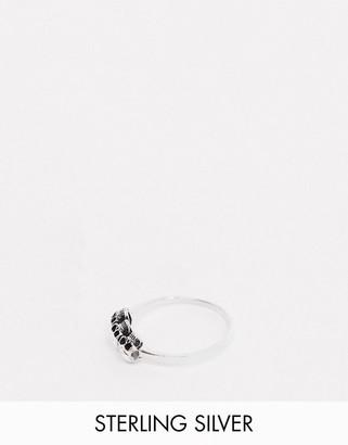 Kingsley Ryan sterling silver skulls ring