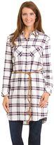 Haggar Women's Belted Shirt Dress