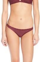 RVCA 'Palm' Print Cheeky Bikini Bottoms