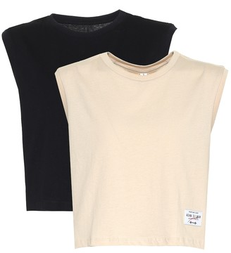 Adam Selman Sport Set of two cotton tank tops