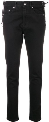 McQ Swallow Laced Harvey slim-fit jeans