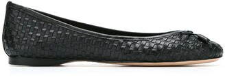 Sarah Chofakian Leather Woven Ballerinas