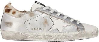 Golden Goose Superstar Calf Hair-Trimmed Sneakers