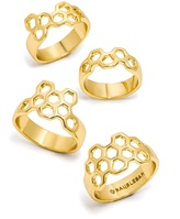 BaubleBar Honeycomb Ring Quad