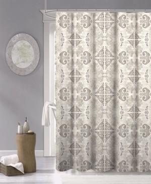 "Dainty Home Mosaic Fabric Shower Curtain, 70"" x 72"" Bedding"