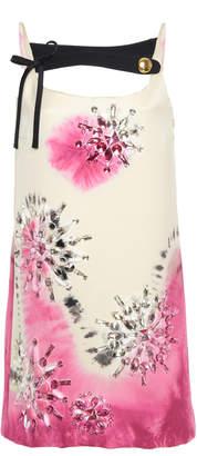 Prada Embellished Tie-Dye Silk-Satin Mini Dress
