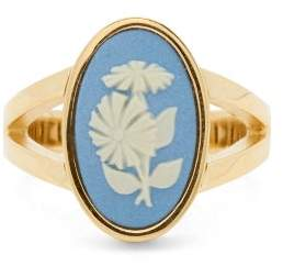 Wedgwood Ferian Ceramic Floral And Gold Ring - Womens - Blue