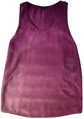 Alexander Wang Burgundy Silk Top for Women