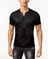 INC International Concepts Men's Textured Palm Split-Neck Shirt, Created for Macy's