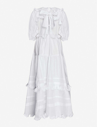 Cecilie Bahnsen Maren tiered-skirt cotton midi dress