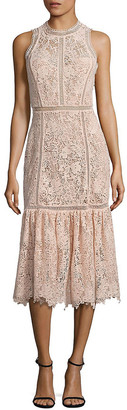 Rebecca Taylor Arella Lace Midi Dress