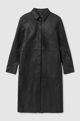 Cos Nappa Leather Shirt Dress