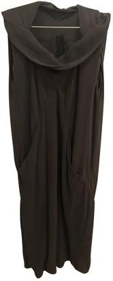 Rick Owens Grey Silk Dresses