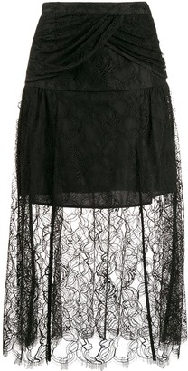 Self-Portrait Lace Layered Skirt