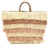 Kayu Pinata Striped Straw Tote