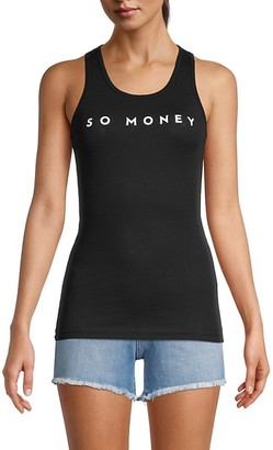 Milly Racerback Stretch-Cotton Tank Top