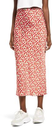 Topshop Floral Print Bias Maxi Skirt