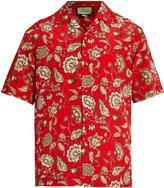 Gucci Floral-print silk crepe de Chine shirt