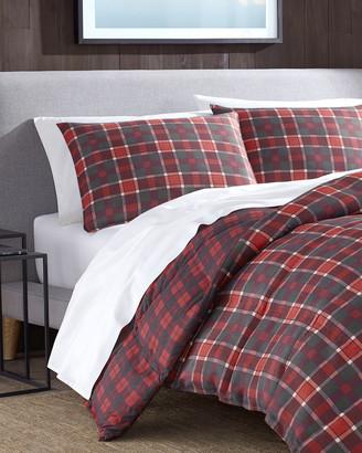 Eddie Bauer Timber Tartan Red Micro Suede Comforter Set