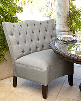 Horchow Tufted Outdoor Chair, Granite