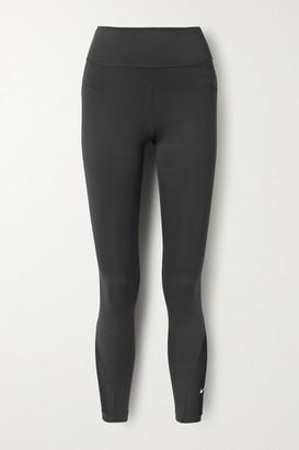 Nike One Mesh-trimmed Dri-fit Leggings - Black
