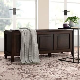 Three Posts Gorlest Wood Flip Top Storage Bench Color: Dark Chestnut Brown