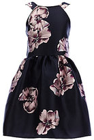 Poppies and Roses Big Girls 7-16 Floral Skater Dress
