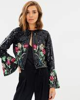 Miss Selfridge Sequin Bird Flute Sleeve Jacket