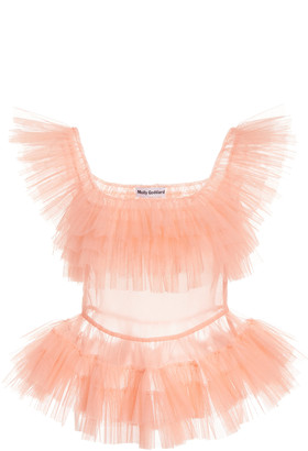 Molly Goddard Eden Ruffled Tulle Top