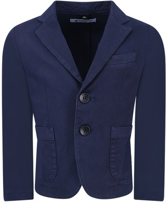 Dondup Blue Boy Jacket With Iconic D