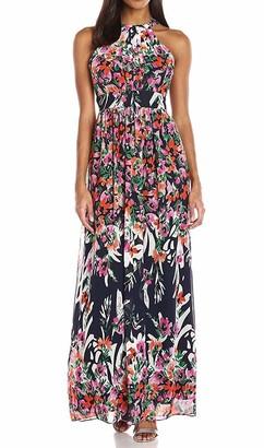 Brinker & Eliza Women's Printed Halter Maxi Dress