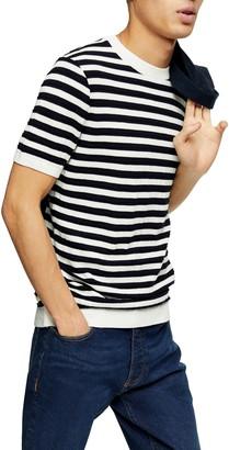 Topman Stripe Knit T-Shirt