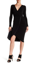 Rachel Roy Ruched Zip Front Dress
