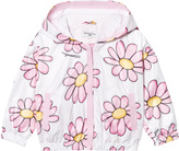 MonnaLisa Pink Daisy Print Hooded Windbreaker