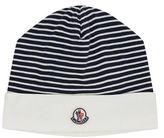 Moncler Striped Logo Beanie