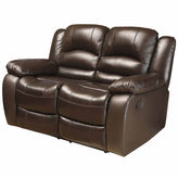 Asstd National Brand Emma Pad-Arm Reclining Loveseat