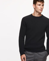 Wool Cashmere Blend Fisherman Rib Jumper