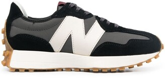 New Balance Leather Logo-Patch Trainers