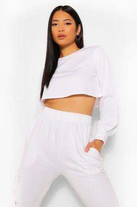boohoo Petite Crop Sweater