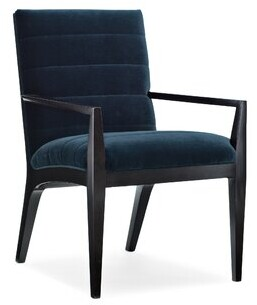 Modern Edge Upholstered Arm Chair in Black Caracole Modern