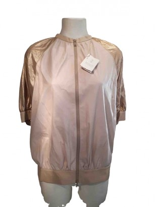 Brunello Cucinelli Pink Leather Leather jackets