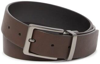 Original Penguin Burnished Reversible Leather Belt