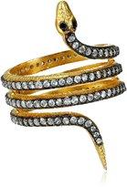 "Azaara Static"" Yellow Snake Ring, Size 7"