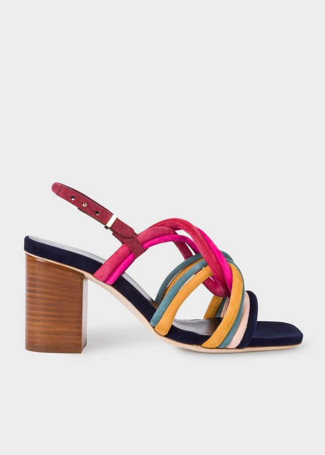 Paul Smith Women's Multi-Coloured Suede 'Carla' Sandals