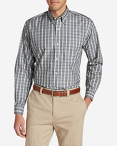 Eddie Bauer Men's Wrinkle-Free Pinpoint Oxford Relaxed Fit Long-Sleeve Shirt - Seasonal Pattern (copy)