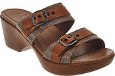 Dansko As Is Leather Double Strap Sandals with Buckles - Jessie