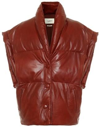 Etoile Isabel Marant Keyson leather puffer vest